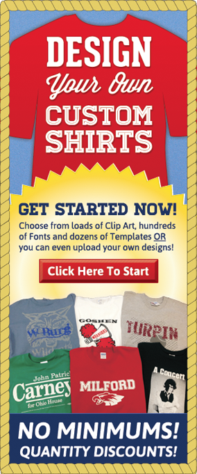 Design Your Own Custom Shirt!
